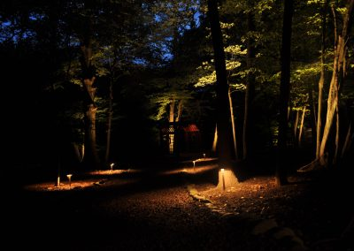 Path lighting to pergolla